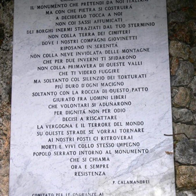 "Piero Calamandrei – ""Lo avrai, Camerata Kesserling…"""